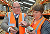 Northern Ireland's Minister for Enterprise, Trade and Investment, Arlene Foster MLA, and Dalradian's CEO, Patrick F. N. Anderson, during a site visit in August 2014 after announcement of grants to Dalradian from Invest NI to support employment and training