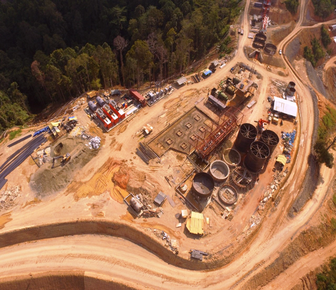 Aerial view of Mill Plant Site of the Balabag Gold Project on April 15, 2020.