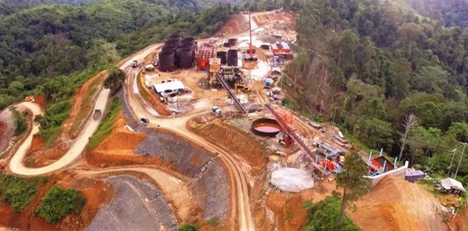 Aerial view of Mill Plant Site of the Balabag Gold Project on May 16, 2020.