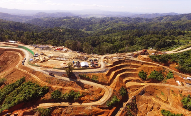 Aerial view of Mill Plant Site of the Balabag Gold Project on January 27, 2020.