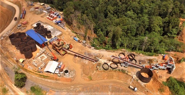 Aerial view of Mill Plant Site of the Balabag Gold Project on June 8, 2020.