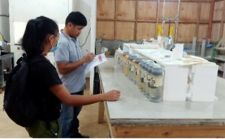 Continuing responsibility for the environment including ongoing monitoring of water quality with weekly delivery of water samples to the Assay Laboratory for analysis.
