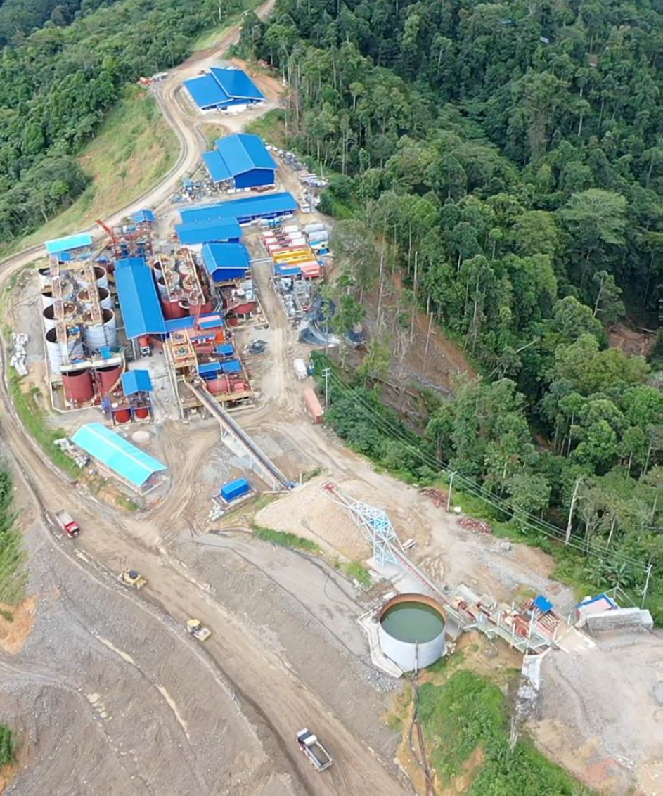 Aerial view of Mill Plant Site of the Balabag Gold Project on February 2, 2021.