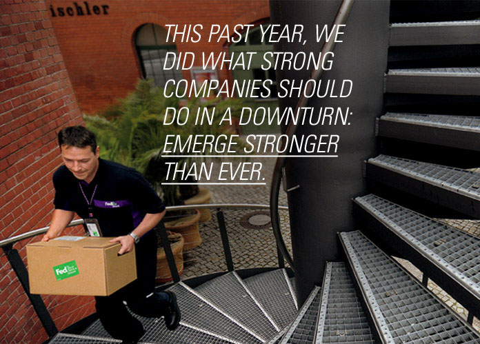 This past year, we did what strong companies should do in a downturn: emerge stronger than ever.