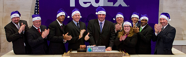 FedEx rings opening bell at New York Stock Exchange