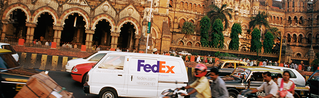 FedEx Express van in Mumbai India