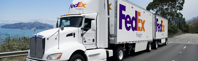 FedEx Freight truck on highway