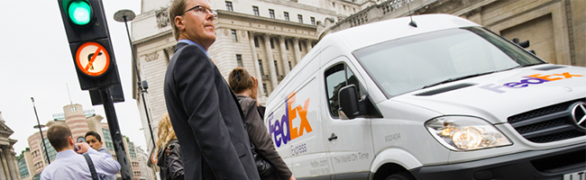 FedEx Express van in London