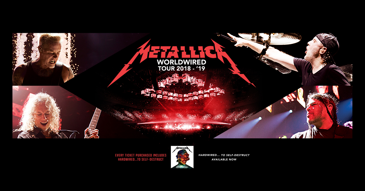 live nation entertainment metallica announce second north american leg of worldwired tour. Black Bedroom Furniture Sets. Home Design Ideas