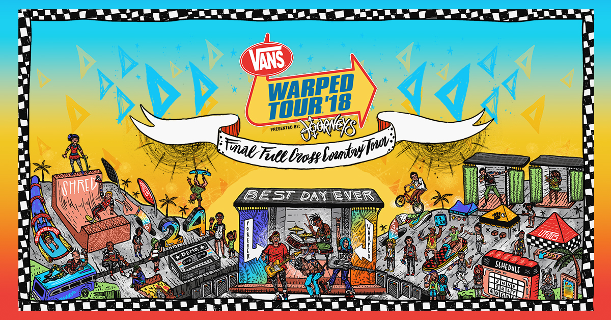 Live nation entertainment 2018 vans warped tour presented by early bird tickets super fan bundles on sale now m4hsunfo