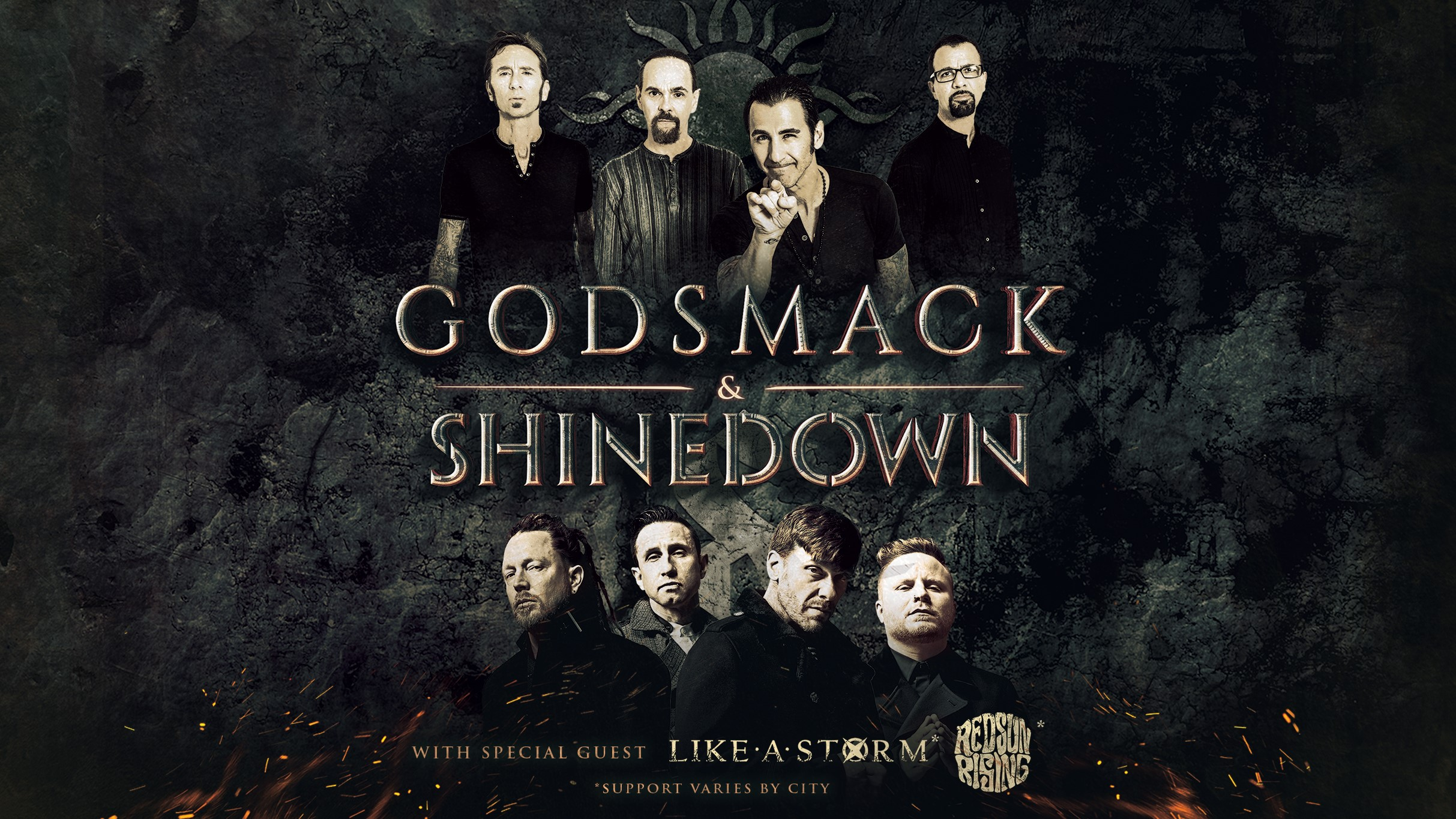 Live Nation Entertainment Godsmack And Shinedown Announce Co