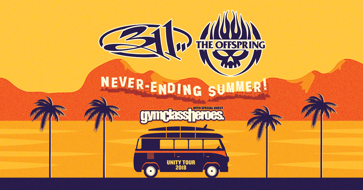 311 And The Offspring Announce Co-Headline 'Never-Ending Summer Tour' With Special Guests Gym Class Heroes