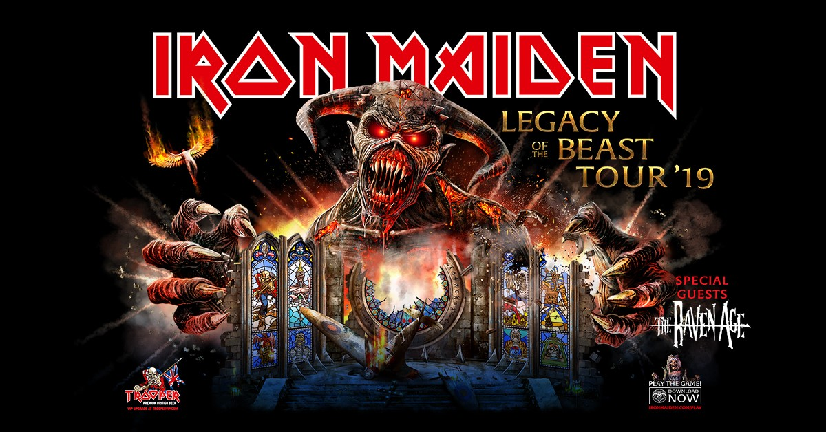 Image result for iron maiden 2019 tour