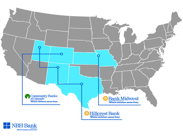 National bank map