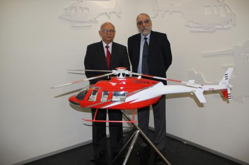 From Left to Right: Bell Helicopter's Managing Director of India, B. S. Singh Deo, and Premair's Director of Operations, H. S. Waraich