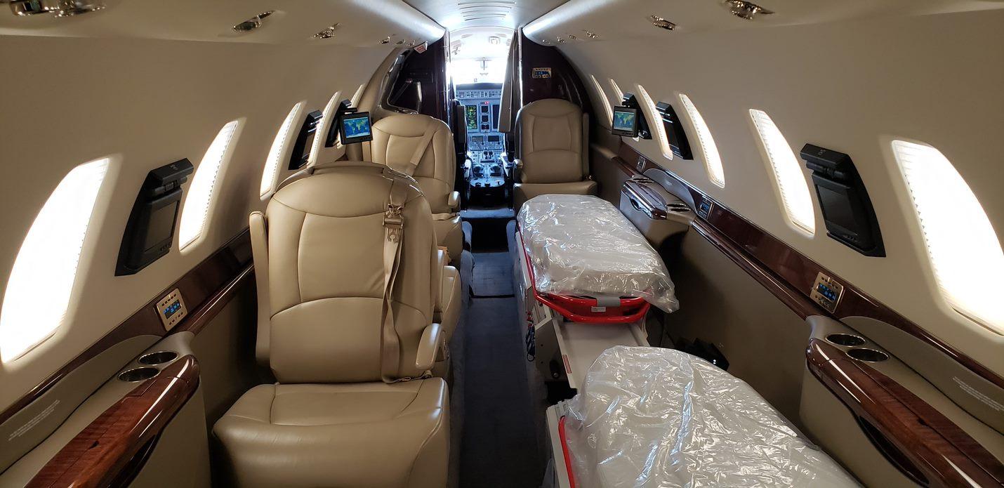 AMREF Flying Doctors Cessna Citation Sovereign interior