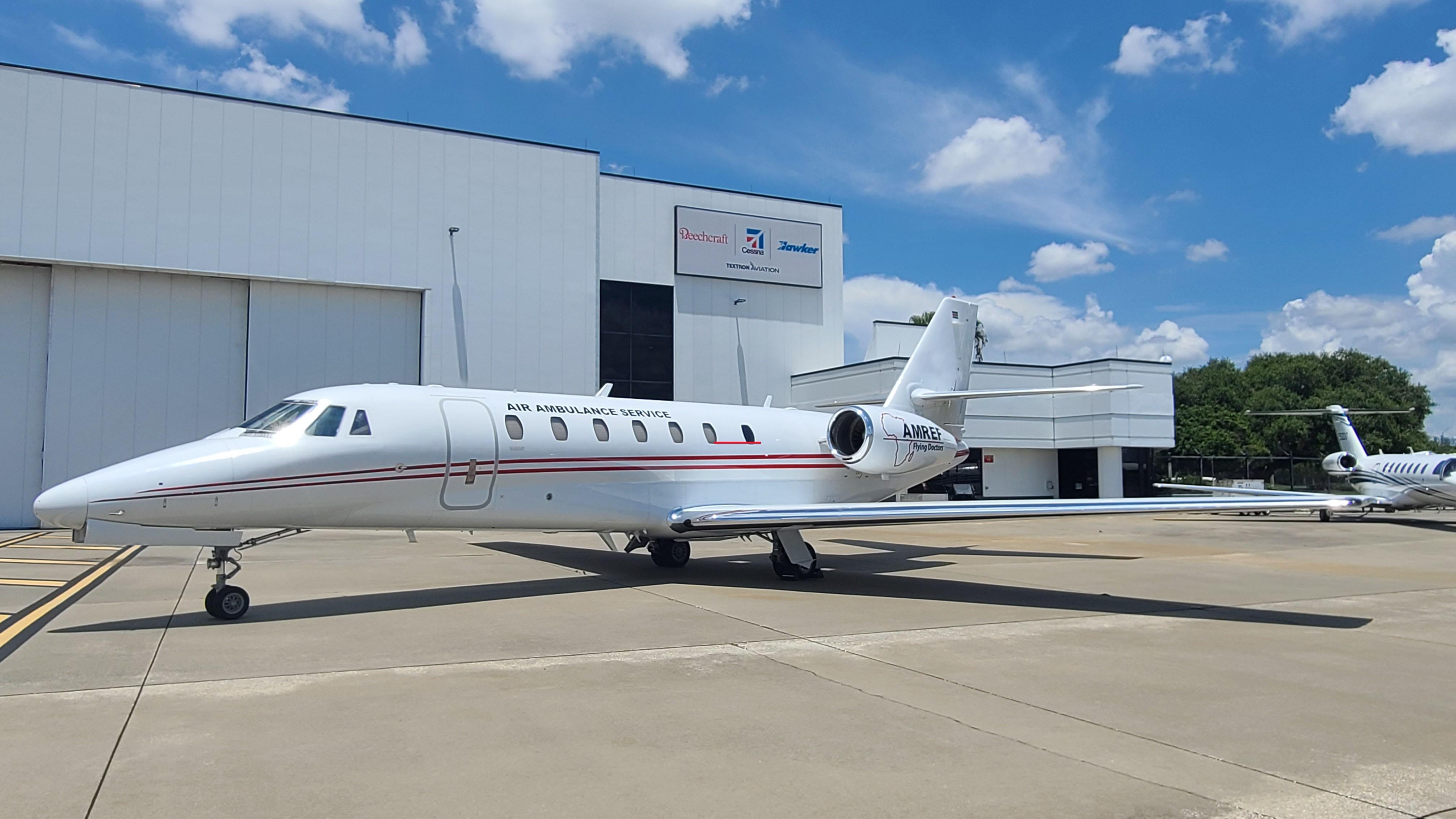 AMREF Flying Doctors Cessna Citation Sovereign exterior