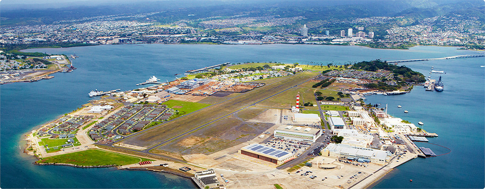 Aerial View of Pearl Harbour