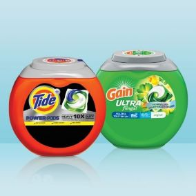 Containers of Tide Gain pods