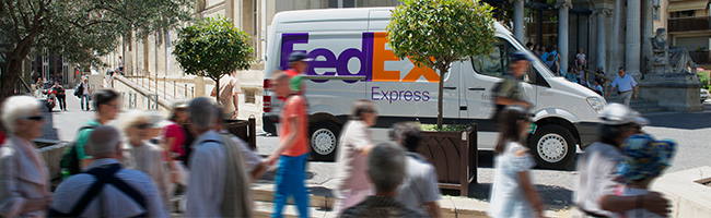 FedEx Express van in France